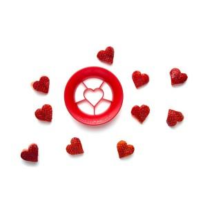 Cortador de fresas en forma de corazón SWEET HEART