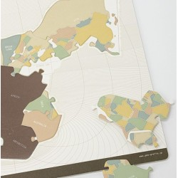 "Puzzle - BOARD PUZZLE ""PIECES OF THE PANGAEA"""