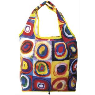Bolsa plegable - BAG IN BAG WITH ZIP KANDINSKY COLOUR STUDY