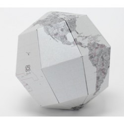 Artículo para montar - MATERIAL SECTIONAL GLOBE EARTH'S AXIS 23.4 DEGREES Ø14 CM. METAL