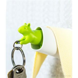 Colgador de llaves - SQUIRREL KEY RING BLANCO-VERDE