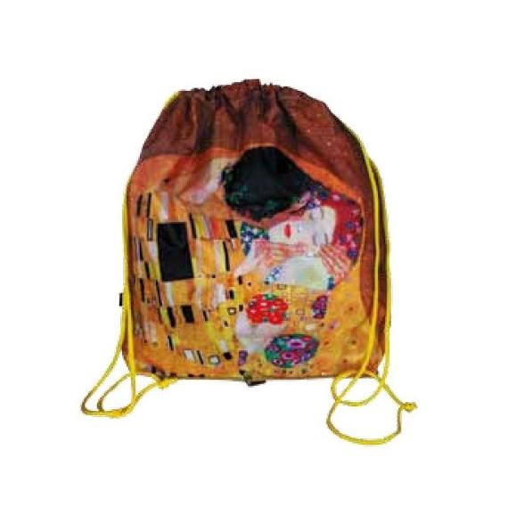 Mochila plegable en bolsa - GUSTAV KLIMT: EL BESO
