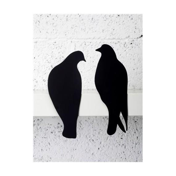 Decoración estanterías - LOVE BIRDS SET DE 2 PÁJAROS