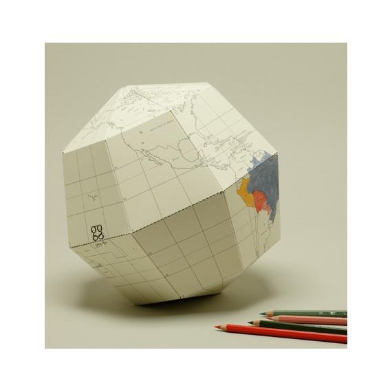 Artículo para montar - BLANK SECTIONAL GLOBE EARTH'S AXIS 23,4 DEGREES Ø26 CM. T-L