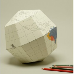 Artículo para montar - BLANK SECTIONAL GLOBE EARTH'S AXIS 23,4 DEGREES Ø36 CM. T-L