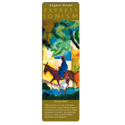 Marcapáginas - ART BOOKMARK EXPRESSIONISTS AUGUST MACKE DONKEY RIDER