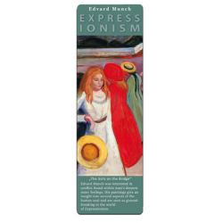 Marcapáginas - ART BOOKMARK EXPRESSIONISTS EDVARD MUNCH GIRLS ON THE BRIDGE