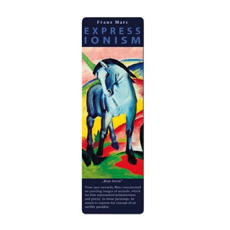 Marcapáginas - ART BOOKMARK EXPRESSIONISTS FRANZ MARC BLUE HORSE