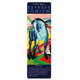 Marcapáginas - ART BOOKMARK EXPRESSIONISTS FRANZ MARC BLUE HORSE