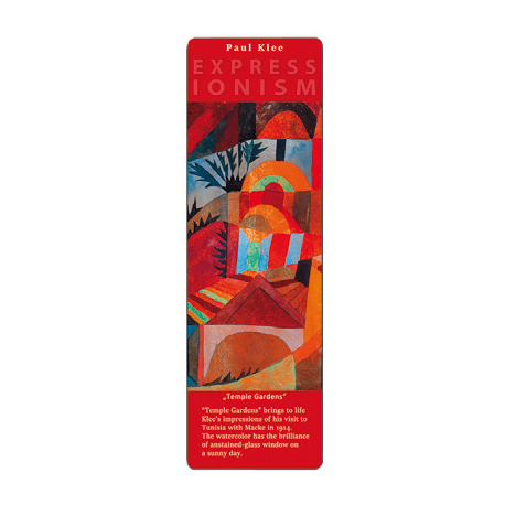 Marcapáginas - ART BOOKMARK EXPRESSIONISTS PAUL KLEE  TEMPLE GARDENS