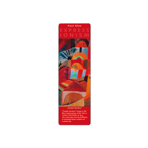 Marcapáginas - ART BOOKMARK EXPRESSIONISTS PAUL KLEE  TEMPLE GARDENS