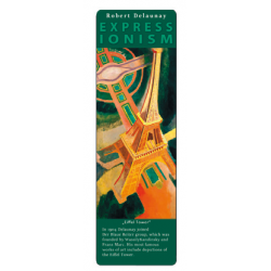 Marcapáginas - ART BOOKMARK EXPRESSIONISTS ROBERT DELAUNAY EIFFEL TOWER