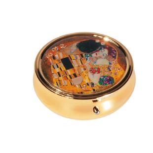 Pastillero - PILL-BOX LARGE ROUND GUSTAV KLIMT KUSS