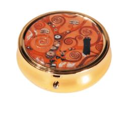 Pastillero - PILL-BOX LARGE ROUND GUSTAV KLIMT LEBENSBAUM