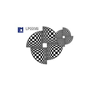 Postal animada - LENTICULAR POSTCARD GEOMETRIC OP ART 2 CÍRCULOS(CON ANIMACIÓN)
