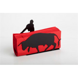 Servilletero - RED NAPKIN HOLDER TORERO