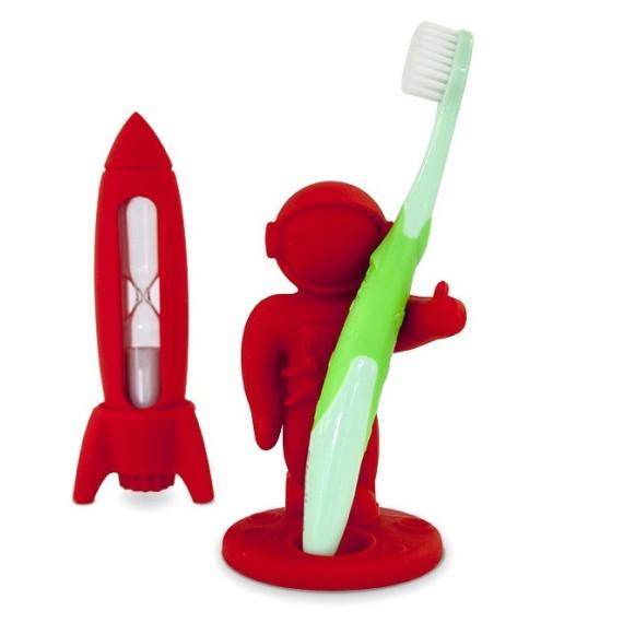 Reloj de arena y soporte para cepillo de dientes - APOLLO AND ROCKET SET