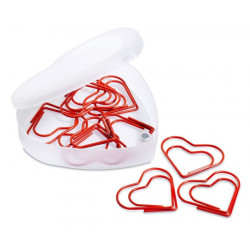 Clips - CAJA CORAZON CON 10 CLIPS CR155