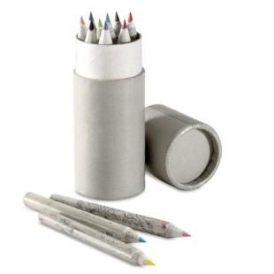Estuche de lápices - TUBO CON 12 LAPICES RECICLADOS