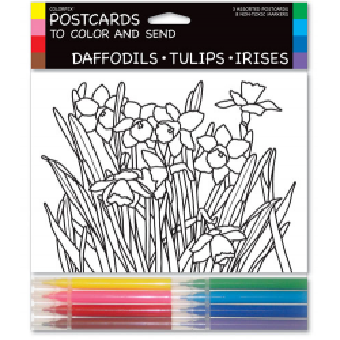 Tarjetas coloreables - DAFFODILS - TULIPS (3 UNIDADES)