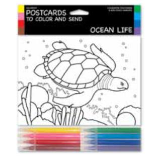 Tarjetas coloreables - OCEAN LIFE (3 UNIDADES)