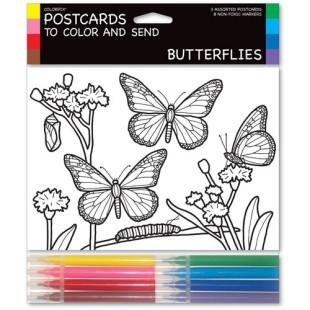 Tarjetas coloreables - BUTTERFLYES (3 UNIDADES)
