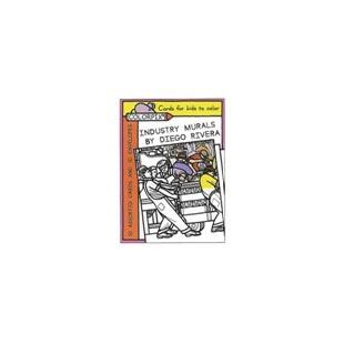 Tarjetas coloreables - MURALES DE DIEGO RIVERA (10 UNIDADES)