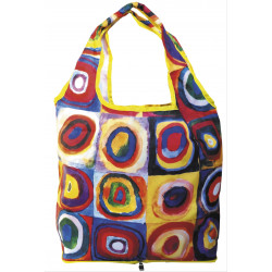 Bolsa plegable - BAG IN BAG WITH ZIP KANDINSKY COLOUR STUDY