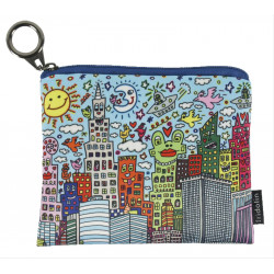 MONEDERO - MINI PURSE WITH ZIP JAMES RIZZI MY NEW YORK CITY