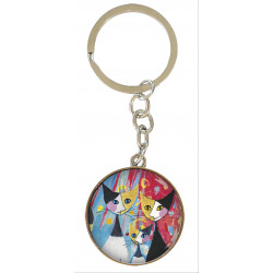 Llavero - ART KEYRING UNA CARA R.WACHTMEISTER: WE WANT TO BE TOGETHER