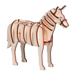 Puzzle - IQ-TEST 3D WOODEN ANIMAL PUZZLE,  CABALLO