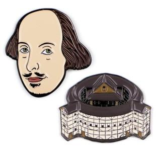 Pin de coleccionismo - SHAKESPEARE, WILLIAM (2 UNIDADES)