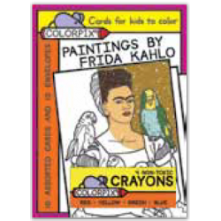 Tarjetas coloreables - FRIDA KAHLO (10 UNIDADES)