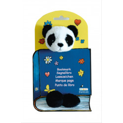 Marcapáginas - PLUSH BOOKMARK WITH ELASTIC BAND - PANDA