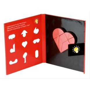 Juego - MAGNETIC HEART TANGRAM BOOK