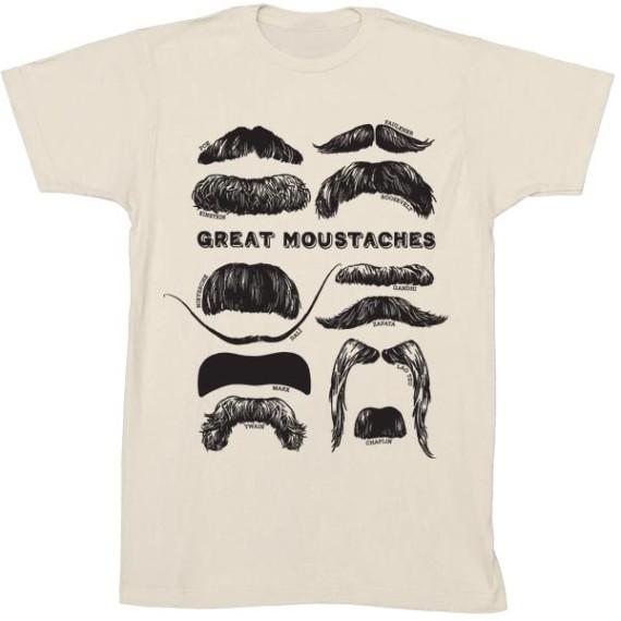 Camiseta - GREAT MOUSTACHES BEIGE T-S