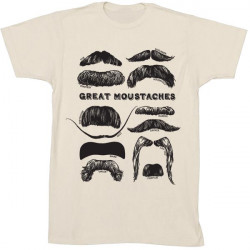 Camiseta - GREAT MOUSTACHES BEIGE T-M