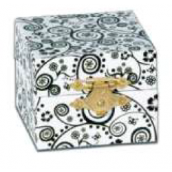 Caja - SMALL GIFT CASE, BLACK/WHITE