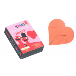 Puzzle - WOODEN-HEART RED, IN A MATCHBOX