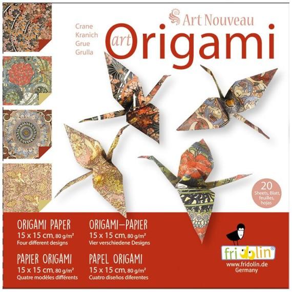 Artículo para montar - ART-ORIGAMI ART NOUVEAU 20 SHEETS 15 CM X 15 CM