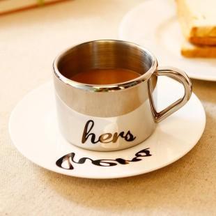 Taza con plato - ANAMORPHIC - HIS