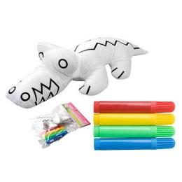 Muñeco para colorear - COCODRILO 3D CON ROTULADORES CR