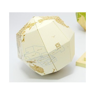 Artículo para montar - MATERIAL SECTIONAL GLOBE EARTH'S AXIS 23.4 DEGREES Ø14 CM. PIEL