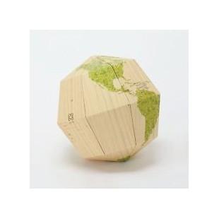 Artículo para montar - MATERIAL SECTIONAL GLOBE EARTH'S AXIS 23.4 DEGREES Ø14 CM. MADERA