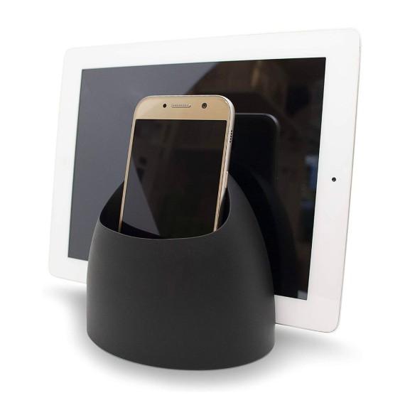 Soporte para tablet y contenedor multiuso - HUB TECH TIDY - BLACK