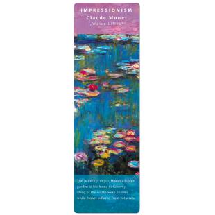 Marcapáginas - BOOKMARK IMPRESSIONISTS MONET WATER LILIES II
