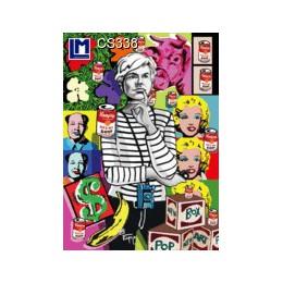 Postal 3D - LENTICULAR  POSTCARD INSPIRADO EN  ANDY WARHOL OBRAS