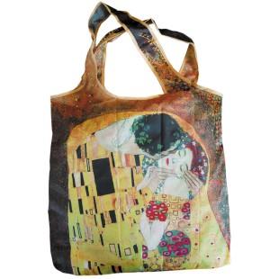 Bolsa plegable - BAG IN BAG PEQUEÑA. GUSTAV KLIMT: EL BESO