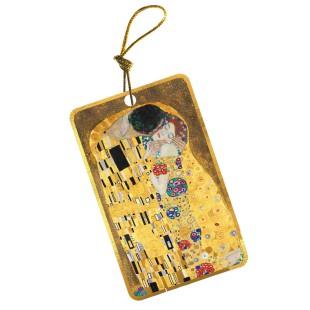 Etiqueta para regalo - GUSTAV KLIMT KISS WITH GOLD RIM, 10 UDS